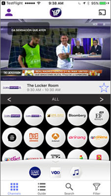 YipTV is one of best free Sports Streaming Apps for Android.