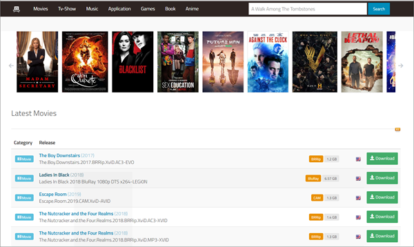 01Torrent is one of the Top Best Alternative Sites to YTS Torrent Movie Website.