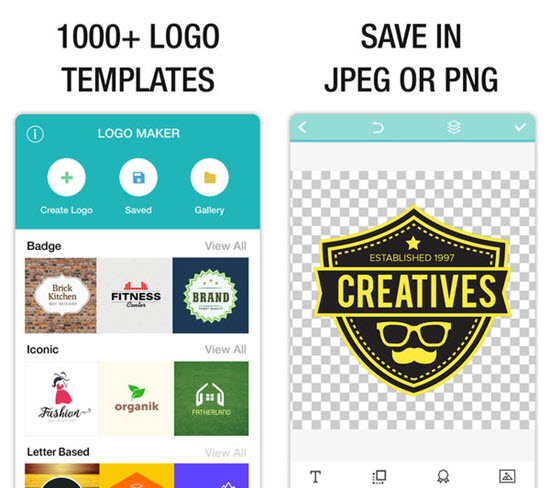Logo Maker is one of the Top Logo Maker Apps for iPhone.