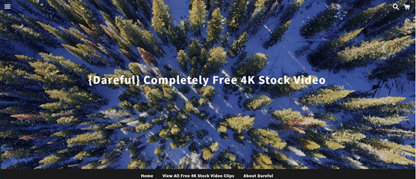 Dareful is Hand-picked site to download stock 4K videos.