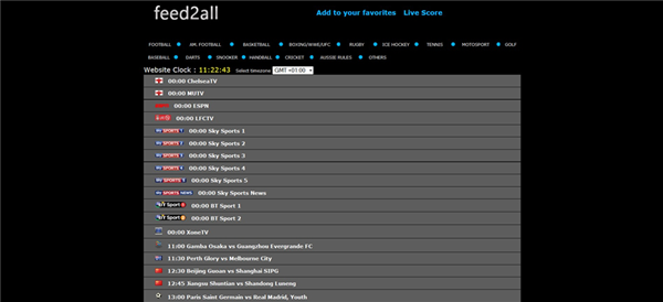 Feed2All is Top Best Football Live Streaming Sites.