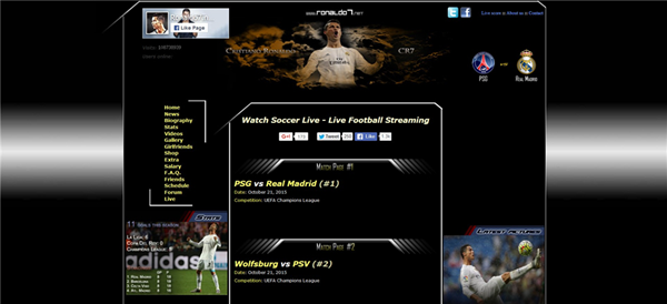 Ronaldo7 is Top Best Football Live Streaming Sites.