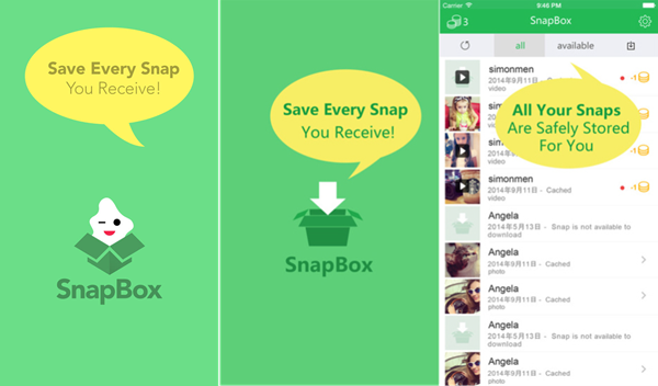 SnapBox ( for Android & iOS) can save Snapchats Secretly.