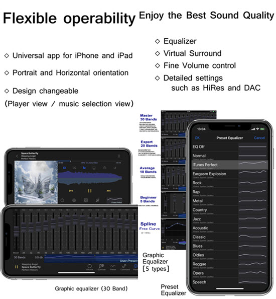 KaiserTone Audio Player is Best Volume Booster Apps for iPhone to Make Your Music Louder.