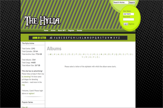 The Hylia is Anime Music Websites to Download Anime MP3 for Free.