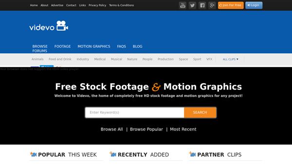 Videvo is 4K video download site for Royalty-free stock 4K videos.