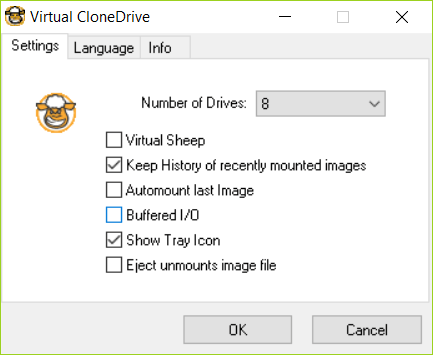 Virtual CloneDrive is best Software to Mount ISO Files.