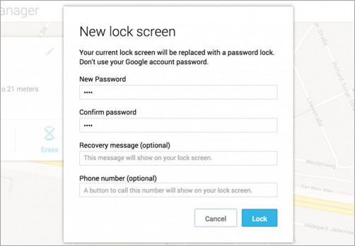 Bypass Android Lock Screen without Reset: Android Device Manager