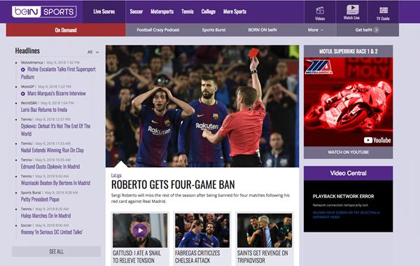 beIN Sports is Top Best Alternative Websites to MamaHD.