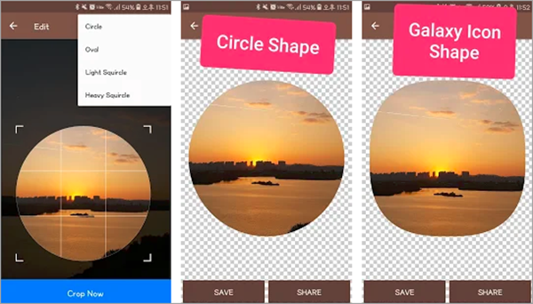 Using Circle Cutter to Crop Pictures into Circle Shapes.