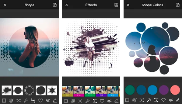 Using Creative Shape Photo Editor to Crop Pictures into Circle Shapes.