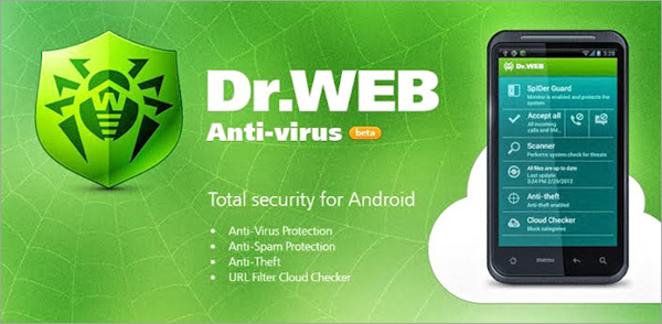 Dr Web Security Space is top best Adware Removal APK for Android.