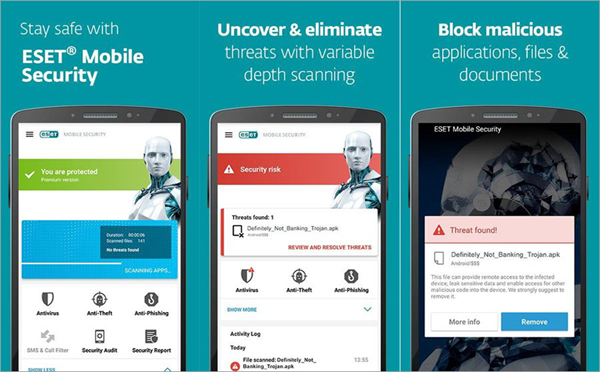 Eset Mobile Security and Antivirus is top best Adware Removal APK for Android.