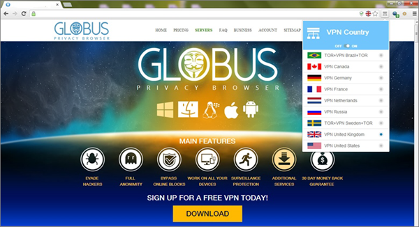Globus VPN Browser is one of the Top Best VPN Browsers Online for PC, Mac, Android & iOS.