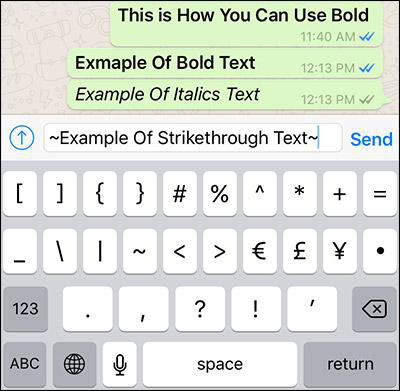 Step by Step to Type Special Text in WhatsApp on iPhone