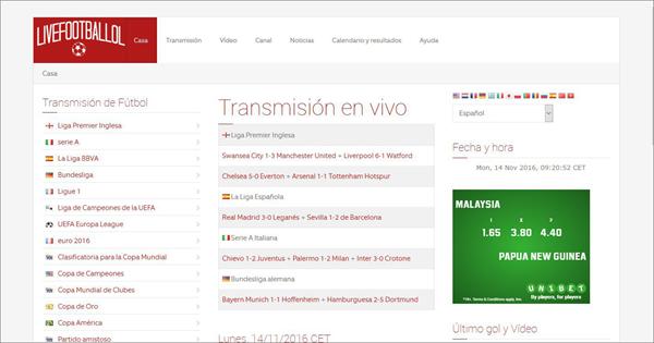 Livefootballol is Top Best Alternative Websites to MamaHD.
