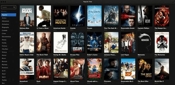 Popcorn Time is Best Free Movie Streaming Sites like Pubfilm.