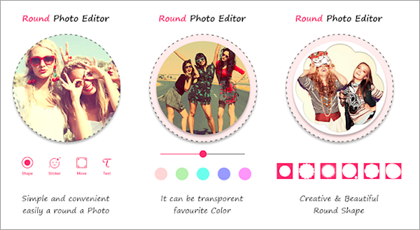 Using Round Photo Editor to Crop Pictures into Circle Shapes.