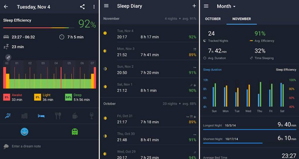 Runtastic Sleep Better is one of the Top Android Sleep Tracker Apps.