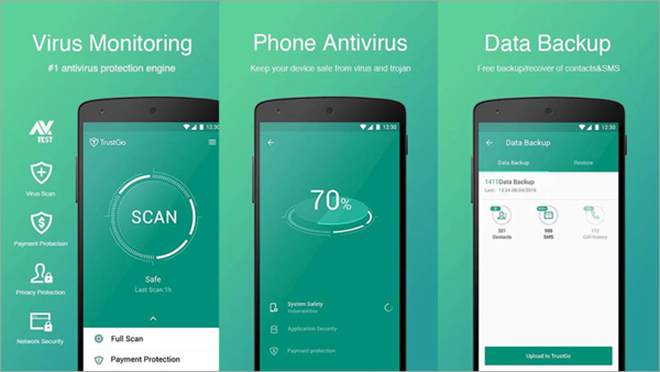 TrustGo Antivirus and Mobile Security is top best Adware Removal APK for Android.