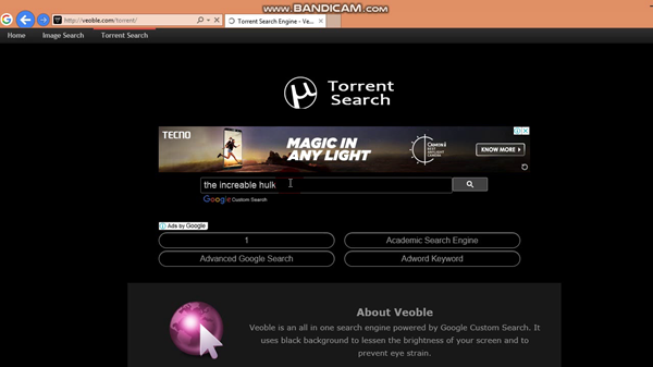 Veoble is one of the Best Torrent Search Engine Sites.