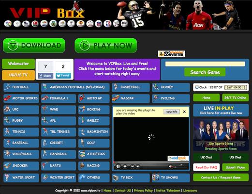 VIPBox is Top Best Alternative Websites to MamaHD.