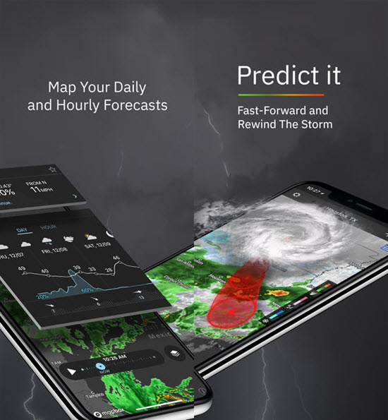 Storm Rader is best iOS Apps to Track a Hurricane on iPhone.