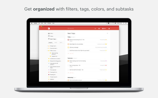 Todoist is one of the best To-do List Apps on Mac.