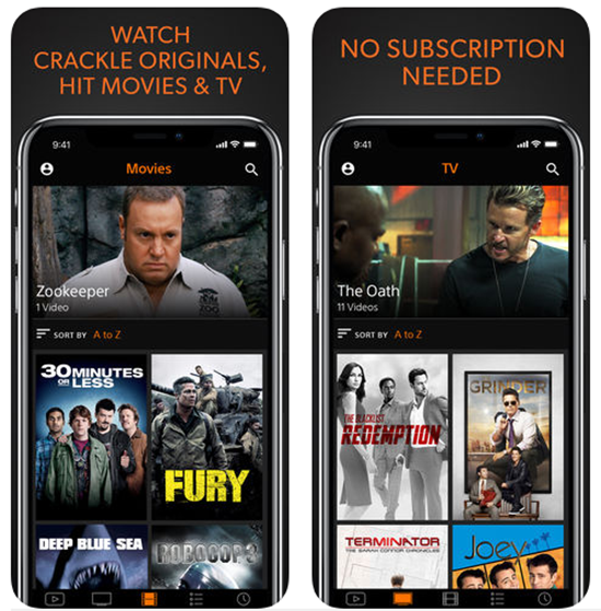Crackle is Best Apps for iphone to Stream & Download Movies.