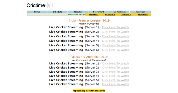 Crictime is best Streaming Sites to Watch Live Cricket Streaming and Scores.