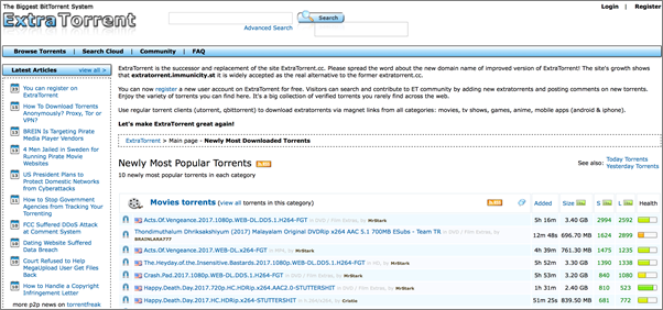 ExtraTorrent is one of the Top Amazing NYAA Alternative Torrent Website.