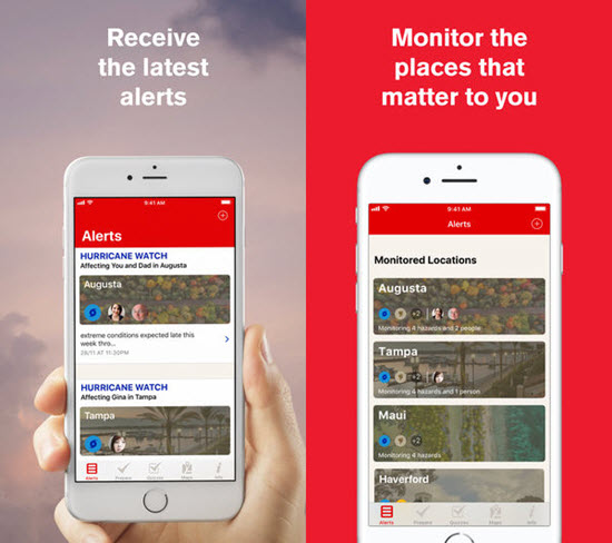 Hurricane By American Red Cross is best iOS Apps to Track a Hurricane on iPhone.