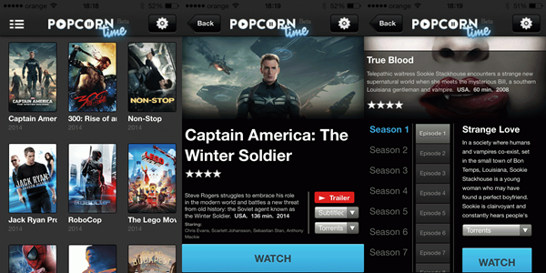 Popcorn Time is one of the Best Alternative Websites to TorrentKing.