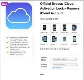Remove iCloud Activation Lock Tool