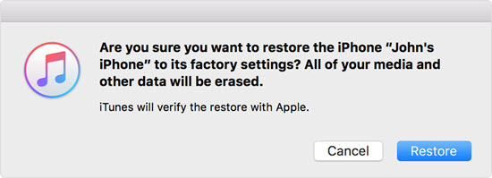 Restore with iTunes to Unbrick Your iPhone