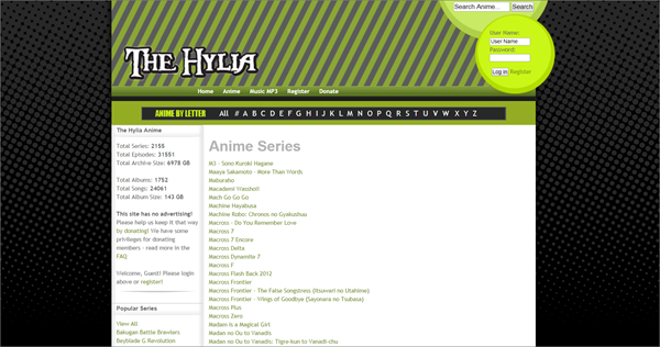 The Hylia is one of the Top Amazing NYAA Alternative Torrent Website.