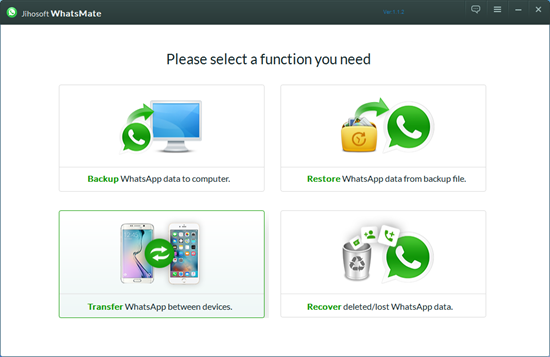 Jihosoft WhatsMate is an all-in-one WhatsApp Manager.