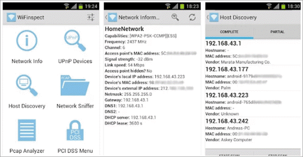 WiFinspect is one of the best WiFi Hacker Apps for Android.