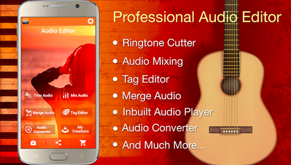 Audio MP3 Cutter Mix Converter and Ringtone Maker is one of the best Free Audio MP3 Cutter Apps for Android Users.