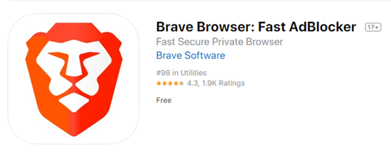 Brave Browser is one of the best Ad blocker for iPhone.