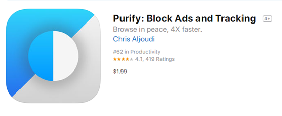 Purify is one of the best Ad blocker for iPhone.