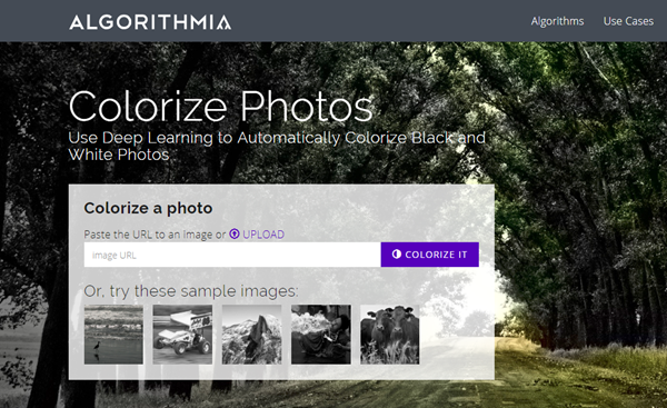 Using Algorithmia Colorize Photos to Convert Black and White Photos to Color.