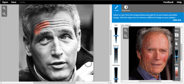 Using Colorize Photo Online Converter to Convert Black and White Photos to Color.
