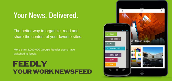Feedly is one of the best Free RSS Feed Reader Apps.