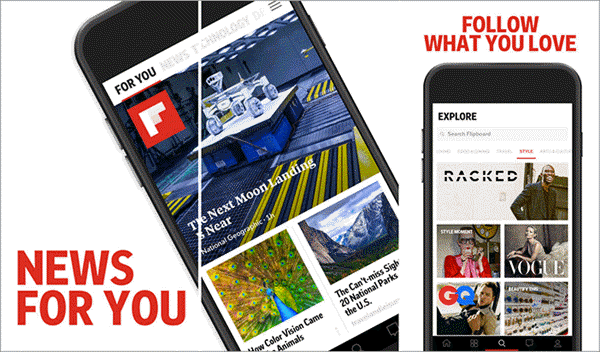 Flipboard is one of the best Free RSS Feed Reader Apps.