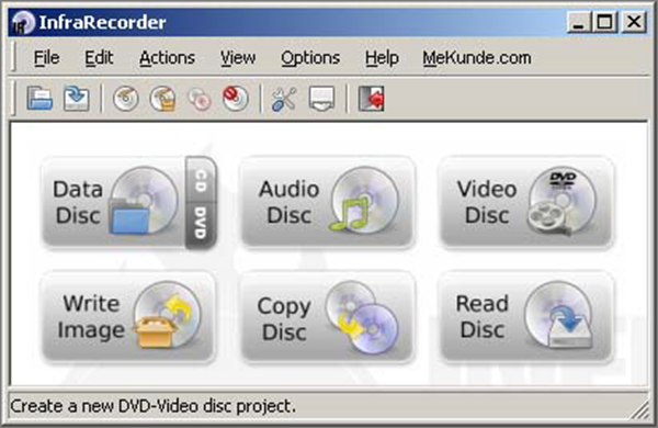 InfraRecorder is one of the bop best Free DVD Burning Software.