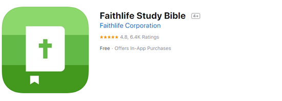 Faithlife Study Bible is one of the best Offline & Free Bile Apps for iPhone.