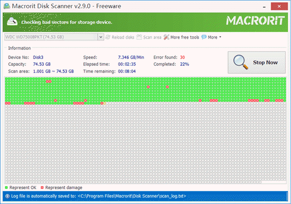 Macrorit Disk Scanner is one of the best bad Sector Repair Software for Free.
