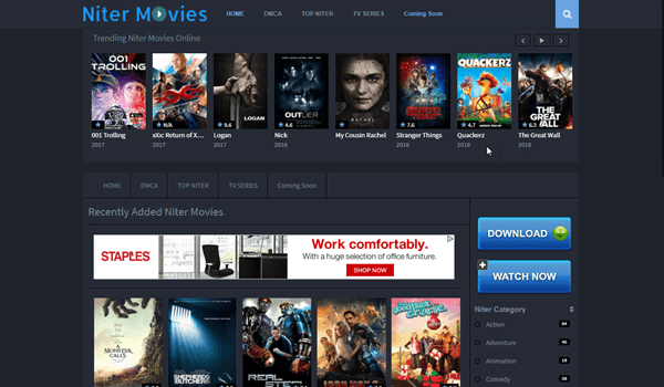 Niter is one of the best Movie Sites for You to Download Free 4k Movies.
