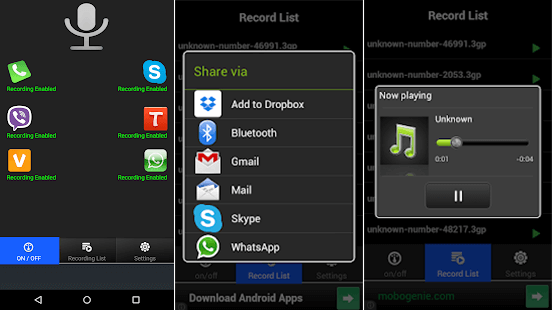 Using Real Call Recorder to Record WhatsApp Calls on Android.